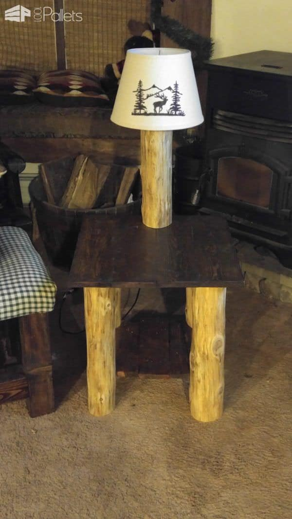 Cabin Pallet Table/Lamp Combo2