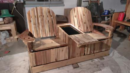 Party Like Pros: 2-person Pallet Recliner Has Built-in Ice Chest