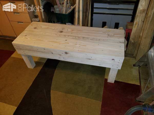 Sturdy Comfy Pallet Bench Improves Any Garden! Pallet Benches, Pallet Chairs & Stools