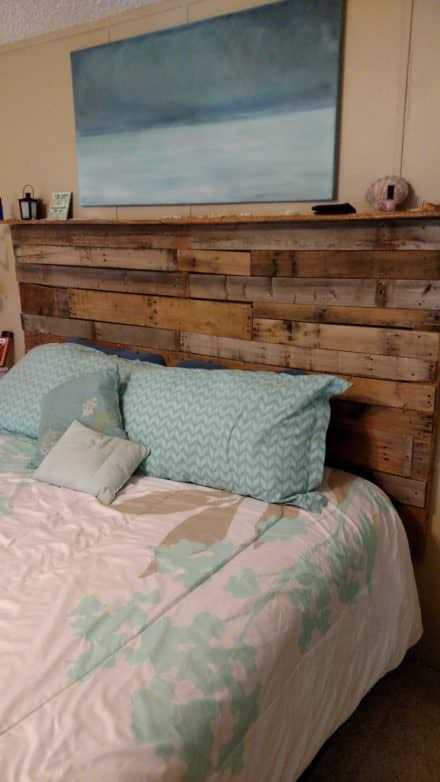 Tall, Rugged King Size Pallet Headboard