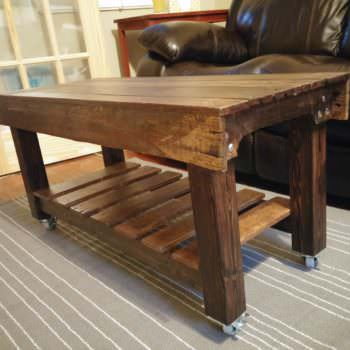 This Pallet Coffee Table Has Casters