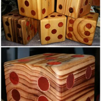 Yardzee Pallet Dice Set With Scorecard Storage Bucket
