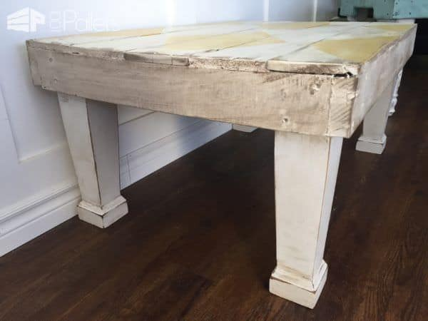 Diamond-Patterned Rustic Coffee Table4