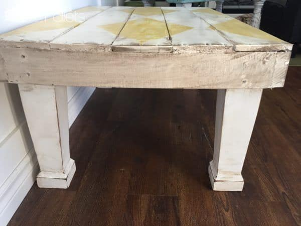 Diamond-Patterned Rustic Coffee Table6