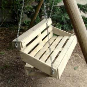 Easy DIY Tutorial: Build & Install One Pallet Bench Swings Pallet Benches, Pallet Chairs & StoolsPallet Tutorials