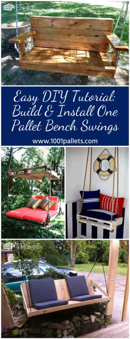 Easy DIY Tutorial: Build & Install One Pallet Swing Bench