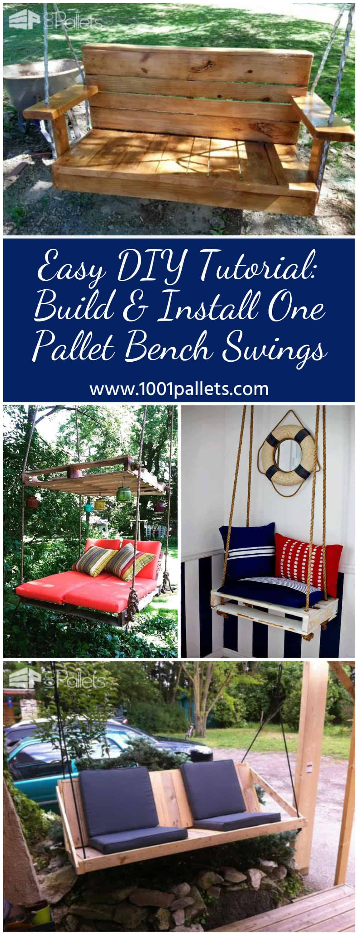 Easy Diy Tutorial Build Amp Install One Pallet Swing Bench