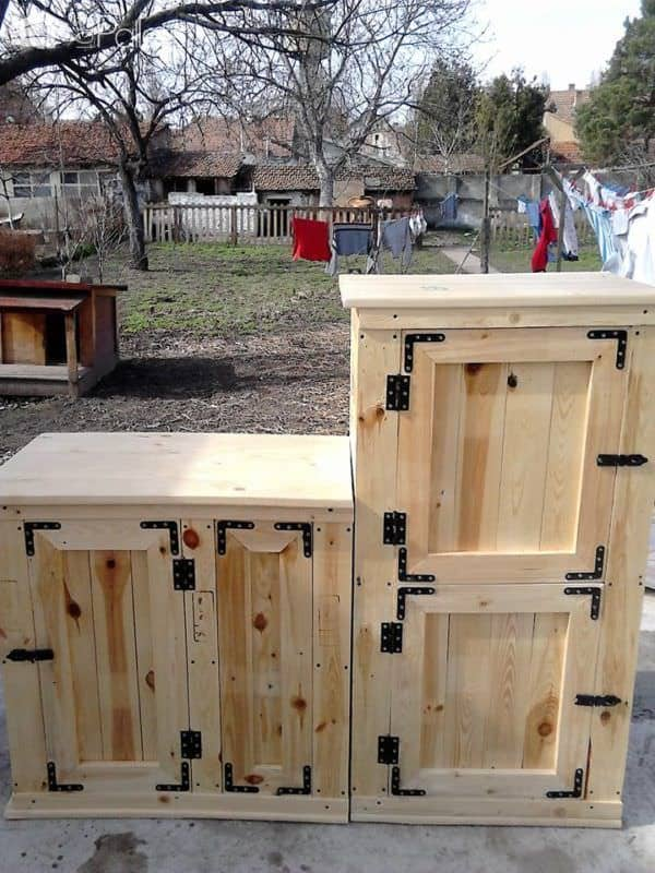 Exquisite Pallet Sideboard Set – Great For Any Room! Pallet Cabinets & Pallet Wardrobes