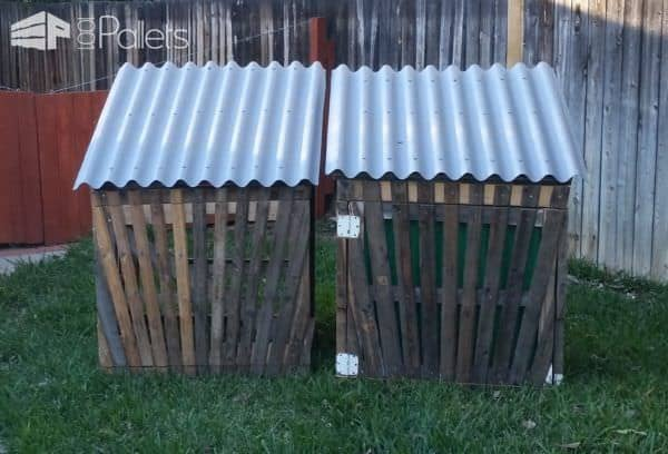 Gated Pallet Compost Bins Can Be Used For Many Outdoor Purposes Pallet Planters & Compost Bins