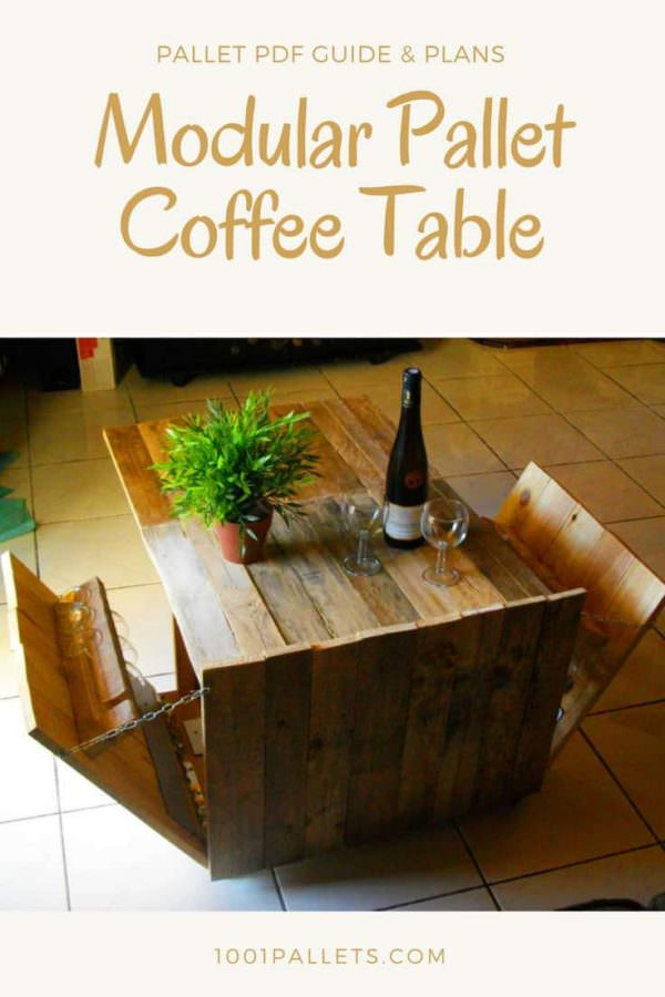 Modular Pallet Coffee Table