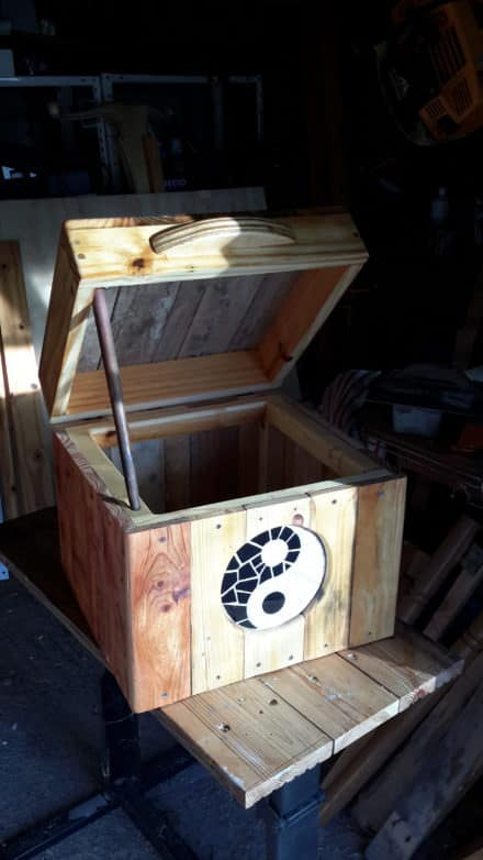 Mosaic Inlay Small Pallet Chest/Seat