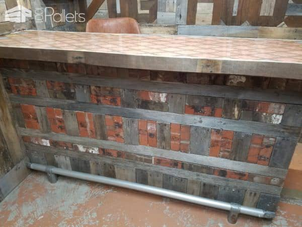 Pallet Bar Featuring Epoxy Penny Top1