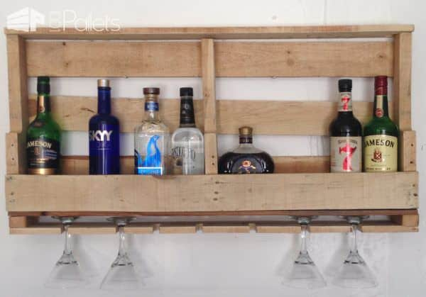 Pallet Bar Wall Rack Ideas You Can Do Easily! DIY Pallet Bars