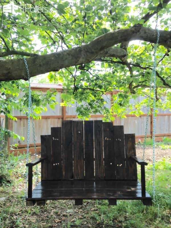 DIY One Pallet Bench Swings22 Easy DIY
