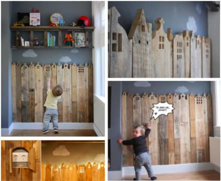 Pallet Corner For Kids Bedroom