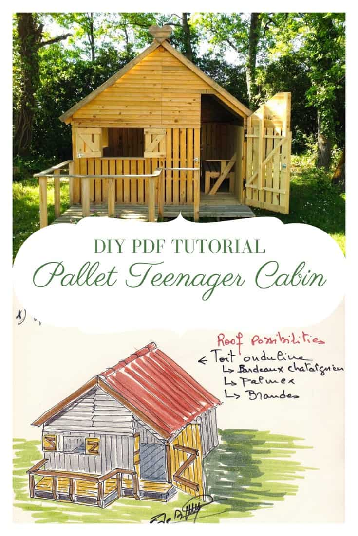 DIY PDF Tutorial Pallet Teenager Cabin • 1001 Pallets • FREE DOWNLOAD