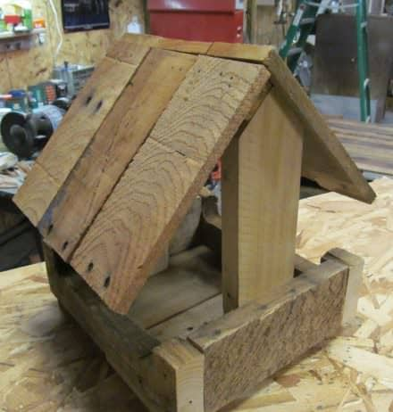 Pallet Wood Bird Feeder