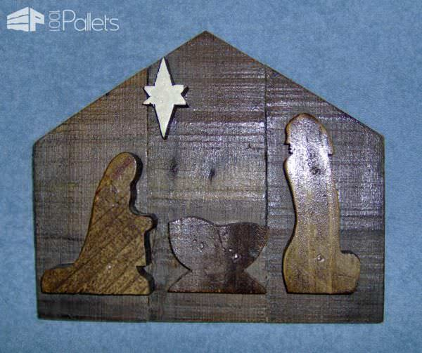 Pallet Wood Christmas Nativity Pallet Home Accessories