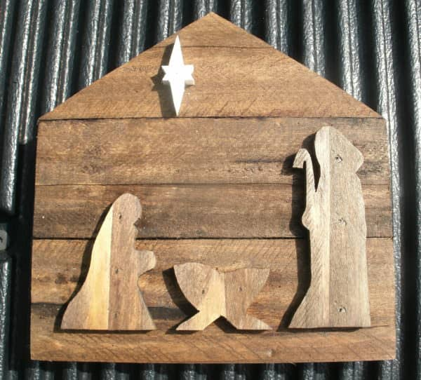 Pallet Wood Christmas Nativity4