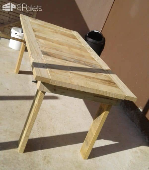 Patio pallet dining table set pallet ideas 1001 pallets - Patio table made from pallets ...