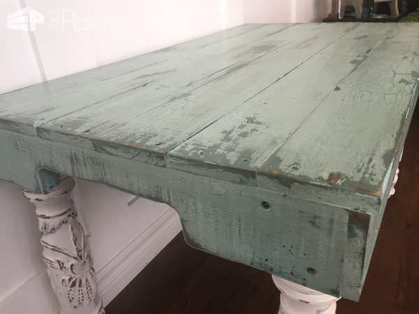 Reclaimed Pallet Side Table Has Upcycled Bed Frame Post Legs Pallet Coffee Tables
