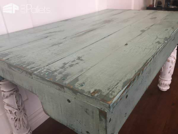 Reclaimed Pallet Side Table7