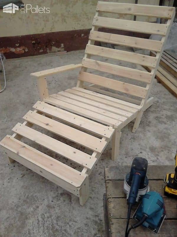 Pallet Chaise Lounge Chair5