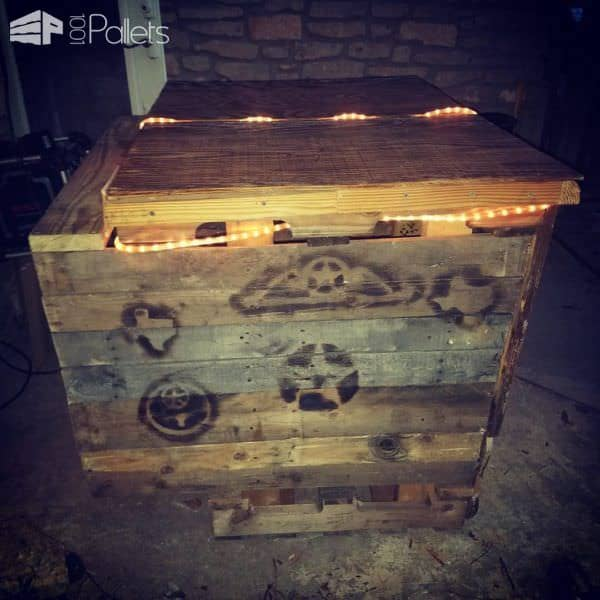Rope-lit Medium Outdoor Pallet Bar DIY Pallet Bars