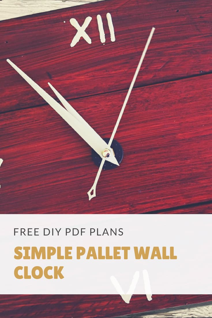 Diy Pdf Tutorial Simple Pallet Wall Clock 1001 Pallets
