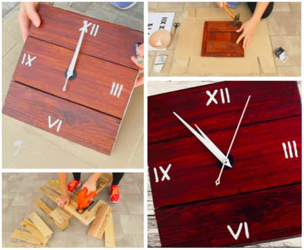 Simple Pallet Wall Clock