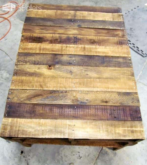 Two-Pallet Rustic Pallet Coffee Table1