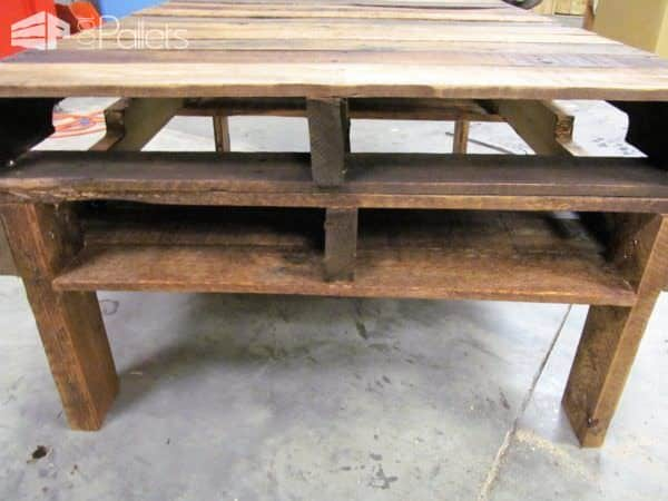 Two-Pallet Rustic Pallet Coffee Table3