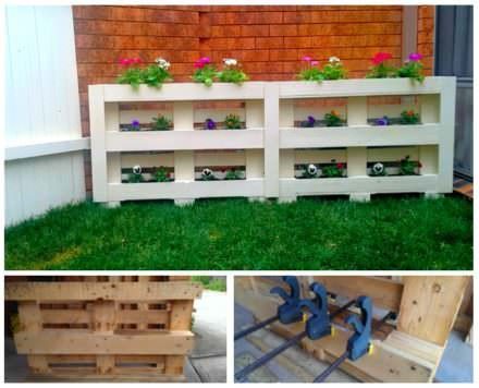 Vertical Pallet Planter Screen