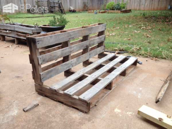 Easy DIY Tutorial: Build & Install One Pallet Bench Swings Pallet Benches, Pallet Chairs & Stools Pallet Tutorials