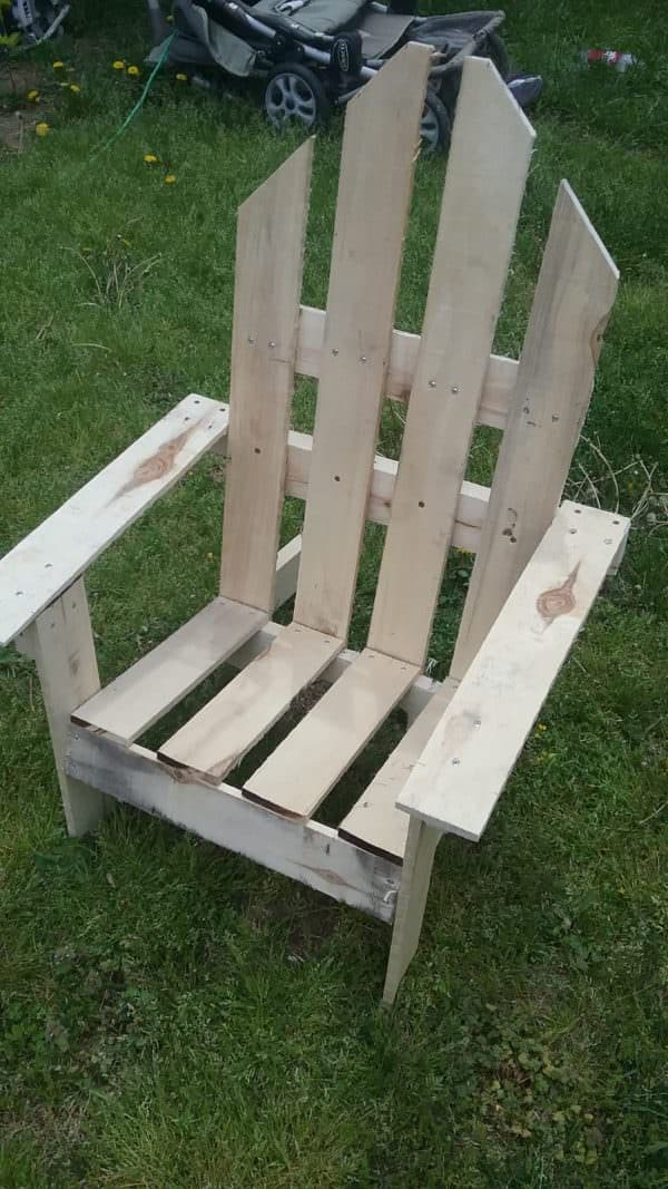 2 Hour Easy Pallet Outdoor Chair 1001 Pallets