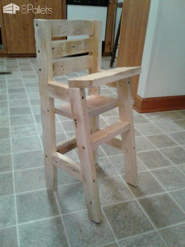 Baby Doll Pallet Highchair Fun Pallet Crafts for KidsPallet Benches, Pallet Chairs & Stools