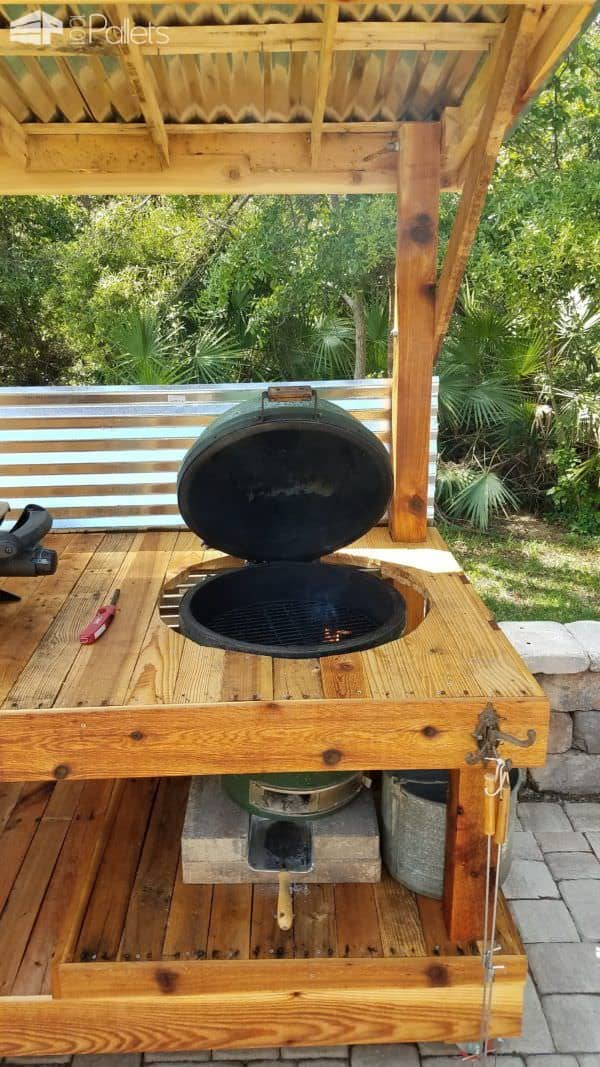 Bbq Surround Pallet Table