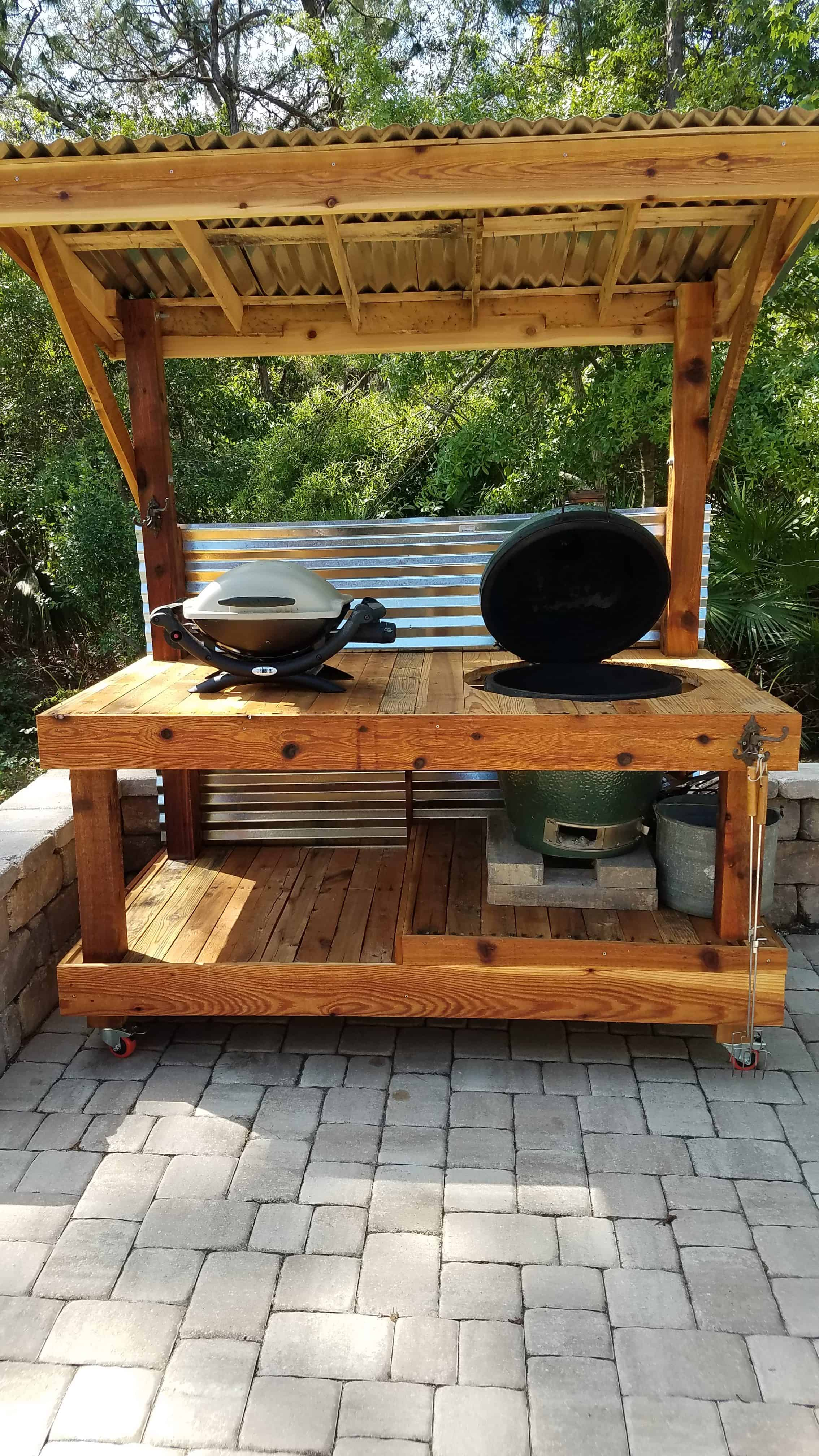 Bbq Surround Pallet Table • Pallet Ideas • 1001 Pallets
