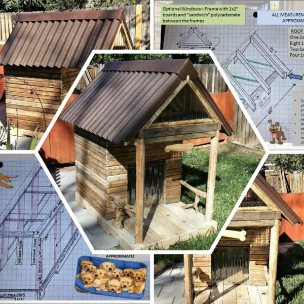 Custom Large Pallet Dog House Can Convert Into Kids Playhouse