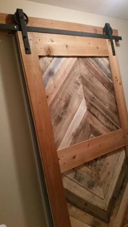 Diamond Pattern Pallet Barn Door