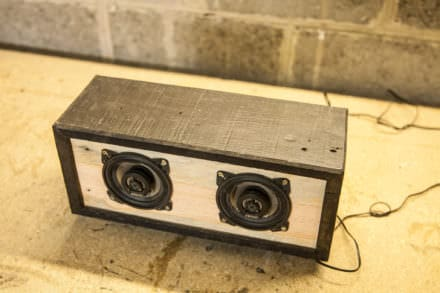 Diy Tutorial: Pallet Bluetooth Speaker Box / Enceinte Bluetooth En Palette