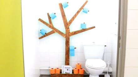 Diy Video Tutorial: Fun Pallet Toilet Paper Tree