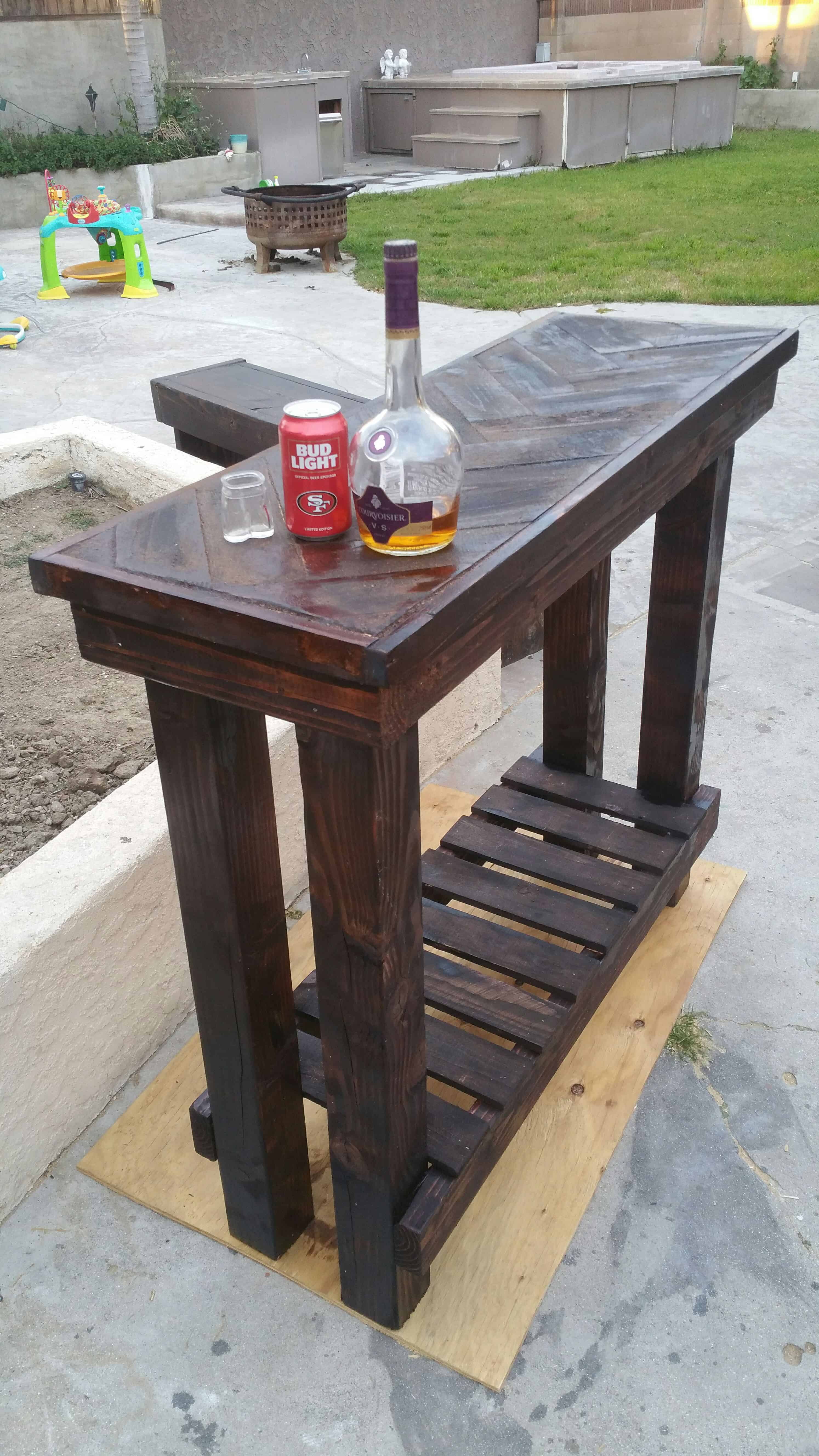 Pallet Entry Table Herringbone Pallet Entry Table O Pallet Ideas O 1001 Pallets