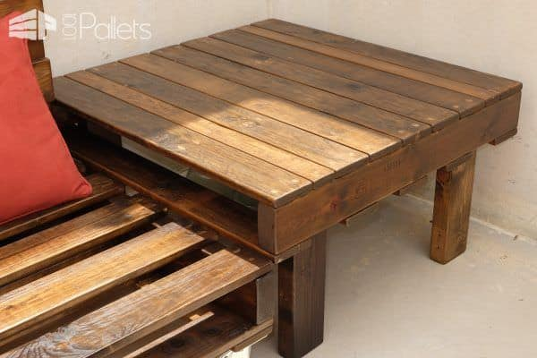 Mobile Pallet Lounge Set Creates Beautiful Outdoor Living! Lounges & Garden Sets