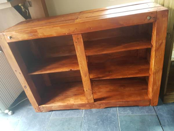 Multi-shelf Pallet Bookcase