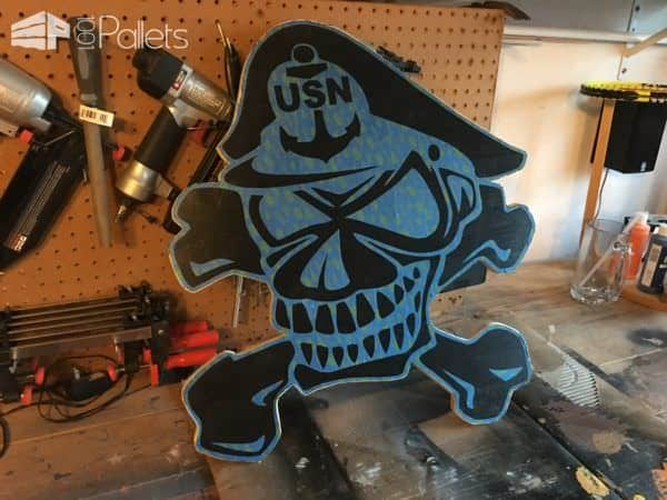 Navy Chief Navy Pride Pallet Plaque Pallet Wall Decor & Pallet Painting