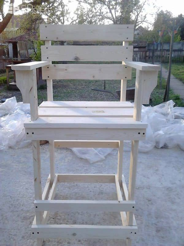 Pallet Bar Stool Tall Bar Chair 1001 Pallets