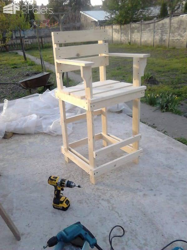 Pallet Bar Stool / Tall Bar Chair Pallet Benches, Pallet Chairs & Stools