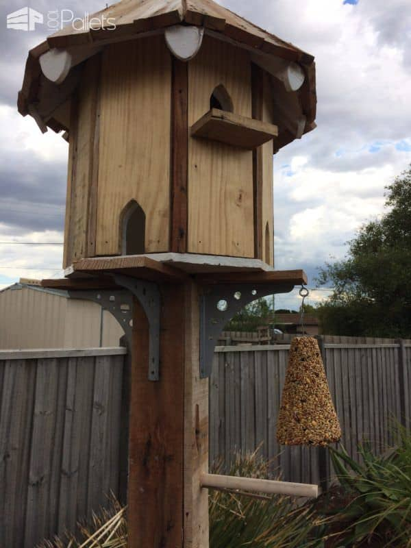 Pallet Dovecote Birdhouse For The Birds 1001 Pallets