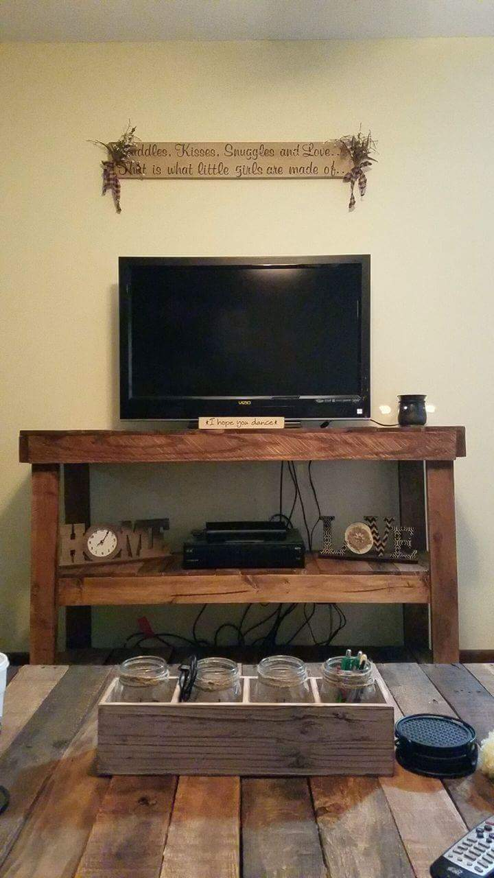 Pallet Television Stand Entertainment Center Part 36